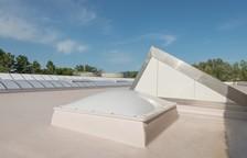in Dachhaut fertig eingebundener Aufsatzkranz in Polyester-Ausführung