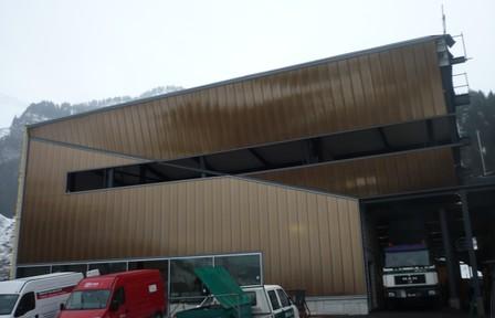 Talstation der Gondelbahn Stöckalp in Melchsee während der Bauarbeiten